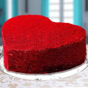 Heart Shape cake with red velvet flavor